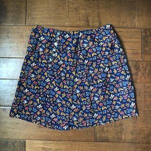 Madewell Floral Mini Skirt